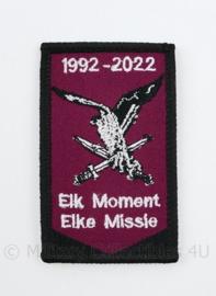 KL Nederlandse leger Luchtmobiele Brigade  embleem 1992 - 2022 - met klittenband - 8 x 5,5 cm