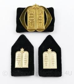 Defensie baret en kraag insigne set Legerrabbijn - 3 delige set - origineel