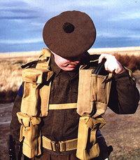 1 PAAR Britse Bren Gunner's Magazine  pouch Utility Pouch Magazijntassen borst model- origineel WO2