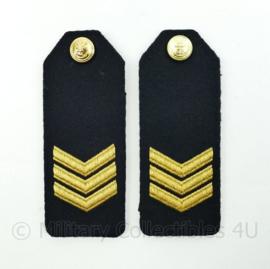Koninklijke Marine epauletten met knopen - rang sergeant - paar - origineel