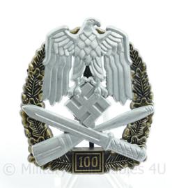 WO2 Duitse medaille Algemeines Sturmabzeichen 100 - met replica maker stempel JFS -  replica