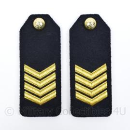 Korps Mariniers epauletten schouderstukken set - Sergeant-Majoor - origineel