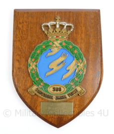 Klu Luchtmacht Wandbord 328 Squadron aan CDT en personeel  - 18,5 x 14 x 1,5 cm - origineel