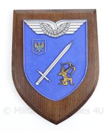 Wandbord Nederlandse leger en Bundeswehr voor Rotsklimmen bij het KMS - 18,5 x 14 x 1,5 cm - origineel