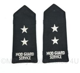 Britse Militaire Politie epauletten MOD GUARD SERVICE - Ministry of Defence - 15 x 7 cm - origineel