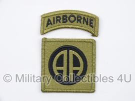 US Army OCP SSI patch met tab - 82nd Airborne Division - met klittenband - voor multicamo uniform - origineel