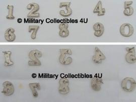 Nummers voor schouderstukken zilver of goud - 1 paar