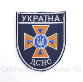 Oekraïense politie embleem Ykpaiha CHC  - met klittenband - 10 x 8  cm - origineel
