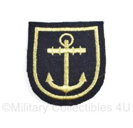 Koninklijke Marine arm embleem met anker - 6 x 6 cm- origineel