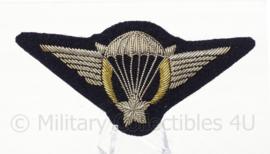 Franse leger parawing embleem voor op de borst - luxe variant van metaaldraad - 10 x 5 cm - origineel