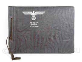 WO2 Duitse Wehrmacht leeg fotoalbum met Adelaar Infanterie Regiment 59 Hildesheim - 26,5 x 19 cm - origineel