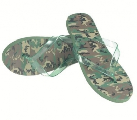 Leger teenslippers sandalen in Woodland camo!
