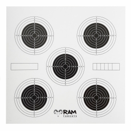 RAM Five Schietkaarten luchtbuks 14x14 cm - 100 stuks