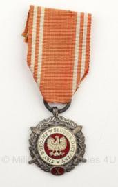Poolse leger medaille 10 jaar in trouwe dienst - origineel
