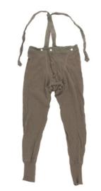 Zweedse leger ondergoed broek met bretels groen - WO2 model origineel