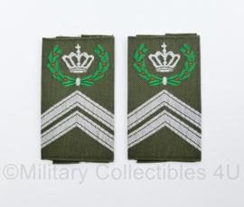 KL Nederlandse leger GVT epauletten schouderstukken set - Eskadrons Opperwachtmeester - origineel
