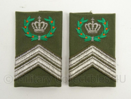KL Landmacht epauletten rang Opperwachtmeester Eskadron - per paar - afmeting 5 x 9 cm - origineel