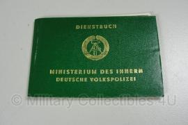 Dienstbuch Ministerium des Innern Deutschen Volkspolizei - ongebruikt - origineel