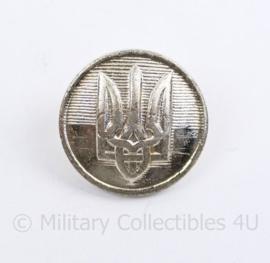 Oekraïense leger knoop zilverkleurig - 22 mm - origineel