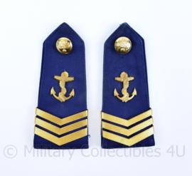 Korps Rijkspolitie te Water epauletten schouderstukken set ZELDZAAM - Wachtmeester 1e klasse- origineel