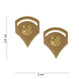 US Army Specialist E-4 Collar pins for dress blue metaal SET - 2,6 x 2 cm