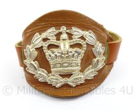 Britse leger wrist strap for rank insignia - Warrant Officer 2nd class - bruin leder - origineel