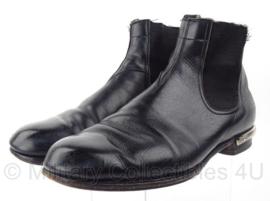 KMAR Koninklijke Marechaussee halfhoge lederen schoenen met sporen - model Jodhpur - maat 6,5 = maat 40 = 255m- origineel