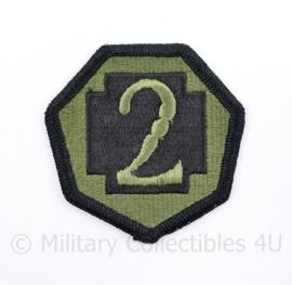 US Army 2nd MEDCOM patch subdued medical command - 6,5 x 6,5 cm - origineel