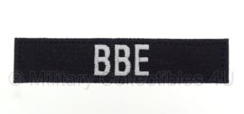 Naamlint politie 'BBE Bijzondere Bijstandseenheid met klittenband Zwart - nieuw gemaakt