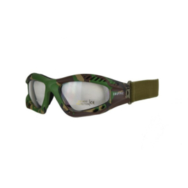 Tactical bril - heldere glazen  -  Woodland camo frame