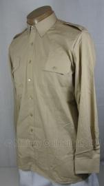 Nederlands leger Khaki DT Overhemd LANGE MOUW - maat 37-4 of 41-5 - IN VERPAKKING - origineel