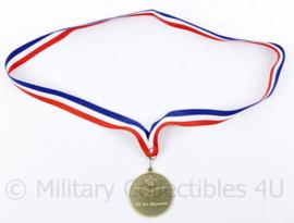 Klu Luchtmacht Zaalvoetbal CLSK 2017 medaille - origineel