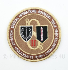 KCT Korps Commandotroepen Special Operations Advisory Team embleem - met klittenband - diameter 9 cm