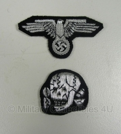M43 pet en schuitje insigne set officieren - SS