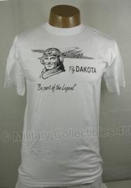 T shirt - Piloot met dakota - 100% katoen - witte uitvoering