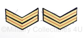 Nederlandse Brandweer rang per paar - rang Brandwacht 1e klasse - 10 x 7 cm - origineel