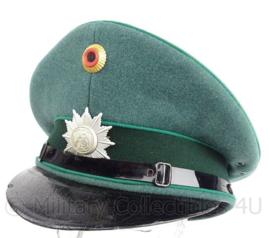 Duitse Polizei Schirmmutze - vroeg model - lederen zweetband ontbreekt - maat 61 - origineel