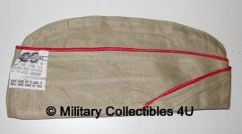 WO2 US khaki schuitje met rode bies - Coastal Artillery - origineel