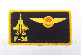 KLu Koninklijke Luchtmacht F-35 borst naam embleem -  met klittenband - afmeting 10 x 6 cm