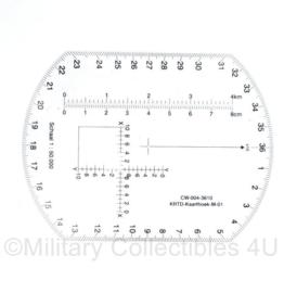 - Defensie KRTD Kaarthoek M01 - 12 x 9 cm - 1 : 50.000 - origineel