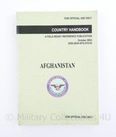 Defensie Country handbook Afghanistan October 2003 - 18 x 12,5 x 1 cm - origineel