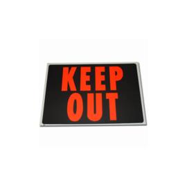 Kunststof plaat Keep Out - 56 x 36 cm