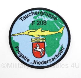 Bundesmarine Tauchergruppe F208 Fregatte Niedersachsen embleem - diameter 10 cm - origineel