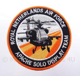 "KLu Koninklijke Luchtmacht embleem RNLAF ""Apache Solo Display Team"" - met klittenband - diameter 10 cm"