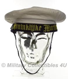 Nederlandse Marine matrozen muts met overtrek 1997 - maat 57 - origineel