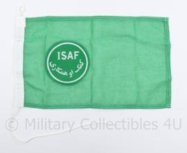 ISAF groene voertuig vlag - NIEUW - 26,5 x 44 cm - origineel