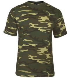 T shirt US Army woodland camo - maat XL
