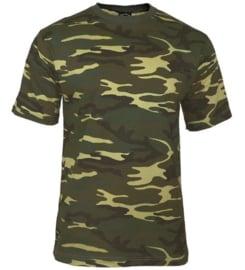 T shirt US Army en Korps Mariniers woodland camo