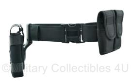 Politie en kustwacht koppel met holster en dubbele magazijn tas- Bianchi en Uncle Mike's Sidekick - maat L - origineel