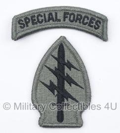 US Army Foliage patch met tab - Special Forces - voor ACU camo uniform - origineel